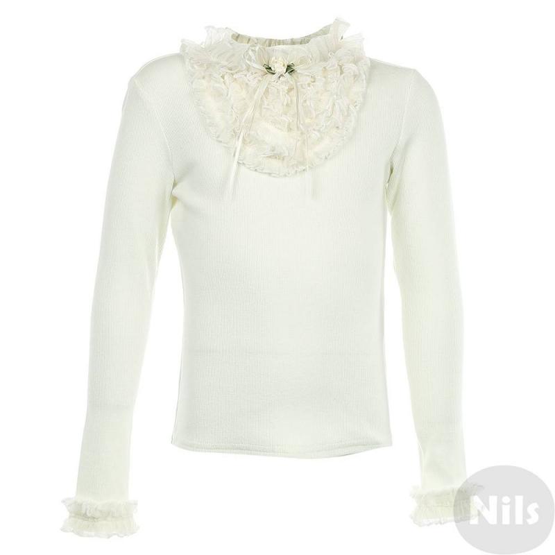 БлузкаБлузка молочногоцвета марки Маленькая Леди.<br>Элегантная блузка выгодно дополнена нежными кружевнымивставками и милыми розочками, выполненными из атласной ленты. Модель с длинным рукавом выполнена из хлопка с добавлением эластана.<br><br>Размер: 10 лет<br>Цвет: Бежевый<br>Рост: 140<br>Пол: Для девочки<br>Артикул: 639072<br>Страна производитель: Россия<br>Сезон: Всесезонный<br>Состав: 95% Полиэстер, 5% Эластан<br>Бренд: Россия