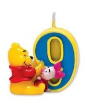 Свеча-цифра 9 Винни Пух S+S Toys