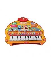 Пианино тетушки Совы обучающее со светом и звуком на батарейках