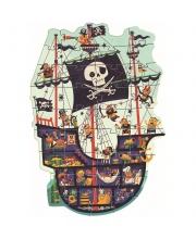 Пазл гигант 36 деталей Пиратский корабль Djeco