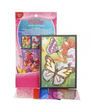 Аппликация из Фольги Цветы и Бабочки