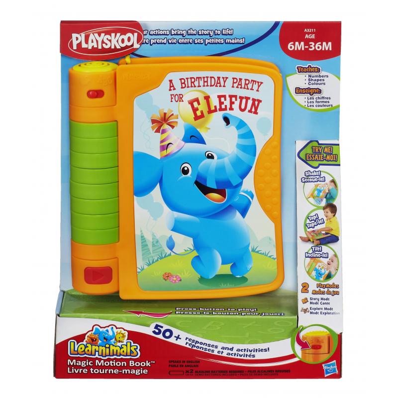 Развивающая игрушка Волшебная книжкаРазвивающая игрушка Волшебная книжка маркиPlayskool.<br>Обучающая игрушка Волшебная книжка содержит 2 режима игры: Время сказки и Обучение. Благодаря этой игрушке изучение форм, цветов, букв и хороших манер будет происходить в игровой форме.<br>Книжка развивает воображение, память, логику и мелкую моторику.<br><br>Возраст от: 6 месяцев<br>Пол: Не указан<br>Артикул: 633115<br>Бренд: США<br>Размер: от 6 месяцев