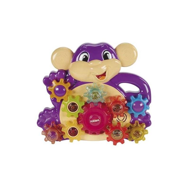 Развивающая игрушка Озорная обезьянкаРазвивающая игрушка Озорная обезьянка маркиPlayskool.<br>Озорная обезьянка с музыкальным сопровождением имеет десятьшестеренок, девятьиз которых можно переставлять.<br>Игра развивает мелкую моторику, понимание причинно-следственной связи, зрительно-моторную координацию, восприятие цветов.<br><br>Возраст от: 6 месяцев<br>Пол: Не указан<br>Артикул: 633116<br>Бренд: США<br>Размер: от 6 месяцев