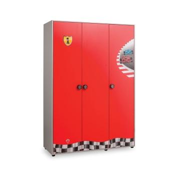Товары для дома, Трехстворчатый шкаф Racecup Cilek (красный), фото