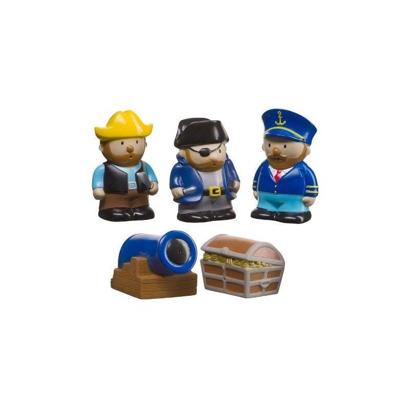 Набор для ванной ПиратыИгровойнабор для ванной Пираты марки Happy Baby.<br>Набор игрушек для ванной Пираты обязательно станет любимым для юного любителя морских приключений, превратив его повседневное купание в озорное, веселое и увлекательное путешествие вместе с героями-пиратами. Теперь малыш не будет капризничать во время купания.<br>В набор игрушек для ванной входят 5 фигурок: 3 отважных пирата, сундук с сокровищами и пушка. Все фигурки очень яркие и красочные, что непременно увлечет ребенка и будет способствовать его развитию.Набор игрушек для ванной не только развлекает ребенка, но и способствует развитию важных функций, таких как цветовое восприятие, моторика пальцев, тактильное восприятие и воображение.<br><br>Возраст от: 6 месяцев<br>Пол: Для мальчика<br>Артикул: 630596<br>Страна производитель: Китай<br>Бренд: Англия<br>Размер: от 6 месяцев
