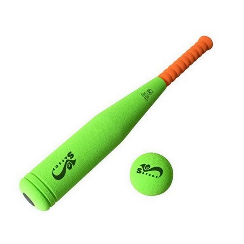 SafSof Бита бейсбольная малая safsof игровой набор бейсбольная бита и мяч цвет зеленый желтый