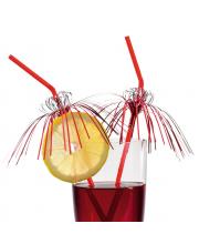 Трубочки для коктейля Гламур 24 см 10 штук Susy Card