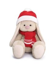 Мягкая игрушка Зайка Ми Большой в шапке и шарфе 34 см BUDI BASA