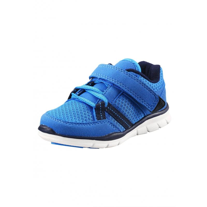 КроссовкиКроссовкиголубогоцвета марки Reima длямальчиков.<br>Яркие кроссовки на эластичной шнуровке дополнены липучкой и дышащими вставками,а также декорированы элементами темно-синегоцвета.Кроссовкиимеют светоотражающие детали для безопасности ребенка в темное время суток.Прочная рельефная подошва из каучука и резины легкая и не скользит.<br><br>Размер: 23<br>Цвет: Голубой<br>Пол: Для мальчика<br>Артикул: 640010<br>Страна производитель: Китай<br>Сезон: Весна/Лето<br>Материал верха: Полиэстер, Полиуретан<br>Материал стельки: Текстиль<br>Материал подошвы: ЭВА (каучук) / Резина<br>Коллекция: 2016<br>Бренд: Финляндия<br>Тип: Лето<br>Серия: Reima