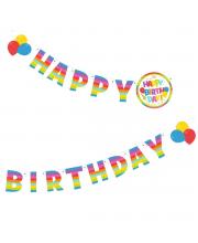 Гирлянда Happy Birthday 16 мх11 см Susy Card