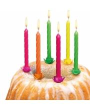 Свечи для торта 12 штук 12 подсвечников Susy Card