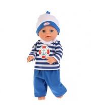 Одежда для кукол 40-42 см костюм кофточка штанишки шапочка