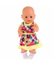 Одежда для кукол 40-42 см платье с носочками