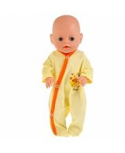 Одежда для кукол 40-42 см желтый комбинезон жирафик