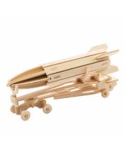 Деревянные 3D пазлы Ракета 48 деталей Robotime