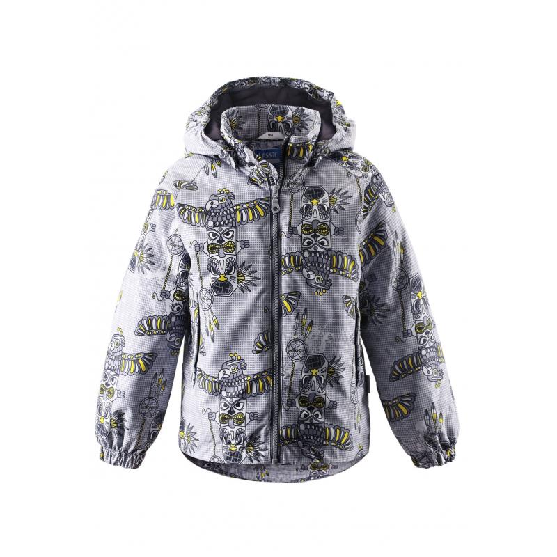 КурткаКуртка серогоцвета маркиLASSIE by REIMA для мальчиков.<br>Курткавыполнена из водоотталкивающего и ветронепроницаемого материала с грязеотталкивающими свойствами.Куртка сутеплителемукрашена ацтекским принтом, имеет съемный капюшон на кнопках, спереди дополнена карманами на липучках. Манжеты на резинках обеспечивают плотное прилегание и защищают от ветра. Светоотражающие детали на куртке обеспечивают безопасность в темное время суток.<br><br>Размер: 4 года<br>Цвет: Серый<br>Рост: 104<br>Пол: Для мальчика<br>Артикул: 640072<br>Бренд: Финляндия<br>Страна производитель: Китай<br>Сезон: Весна/Лето<br>Коллекция: 2016<br>Состав: 100% Полиэстер<br>Состав подкладки: 100% Полиэстер<br>Вид застежки: Молния<br>Наполнитель: 100% Полиэстер<br>Покрытие: Полиуретан<br>Температура: до -5°<br>Вес утеплителя: 80 г<br>Тип: Демисезон