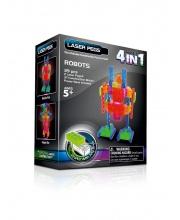 Светодиодный конструктор Роботы н-р 4 в 1