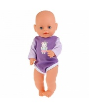 Одежда для кукол Карапуз 40-42 см сиреневый боди единорог
