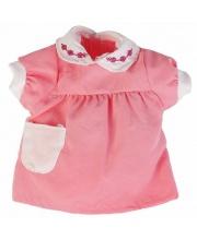 Одежда для кукол 40-42СМ Розовое платье с кармашком