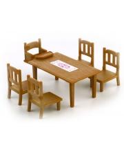 Набор Обеденный Стол С 5ю Стульями Sylvanian Families