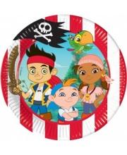 Тарелки Джейк и пираты Нетландии 20 см 8 шт PROCOS