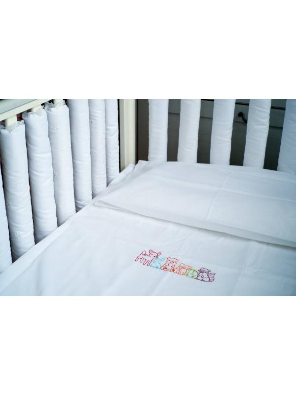 Комплект постельного белья Forest Friends Мастерская Облаков (белый)
