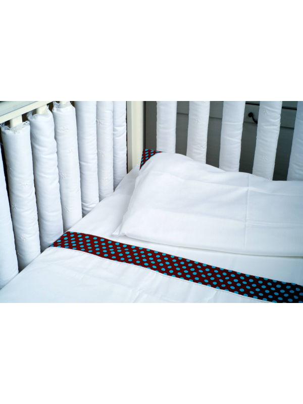 Комплект постельного белья Turquoise Dot Мастерская Облаков (белый)