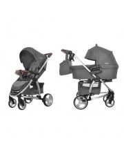 Детская коляска 2в1 Vista Steel Gray CARRELLO