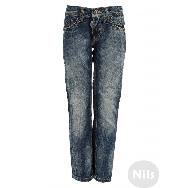 ДжинсыСиние джинсы марки ANTONY MORATO для мальчиков. Стильные джинсы с эффектом потертости, с пятью карманами, застегиваются на молнию и пуговицу. Регулируемый специальными пуговицами пояс обеспечивает отличную посадку.<br><br>Размер: 6 лет<br>Цвет: Синий<br>Рост: 116<br>Пол: Для мальчика<br>Артикул: 604750<br>Страна производитель: Сербия<br>Сезон: Всесезонный<br>Состав: 100% Хлопок<br>Бренд: Италия