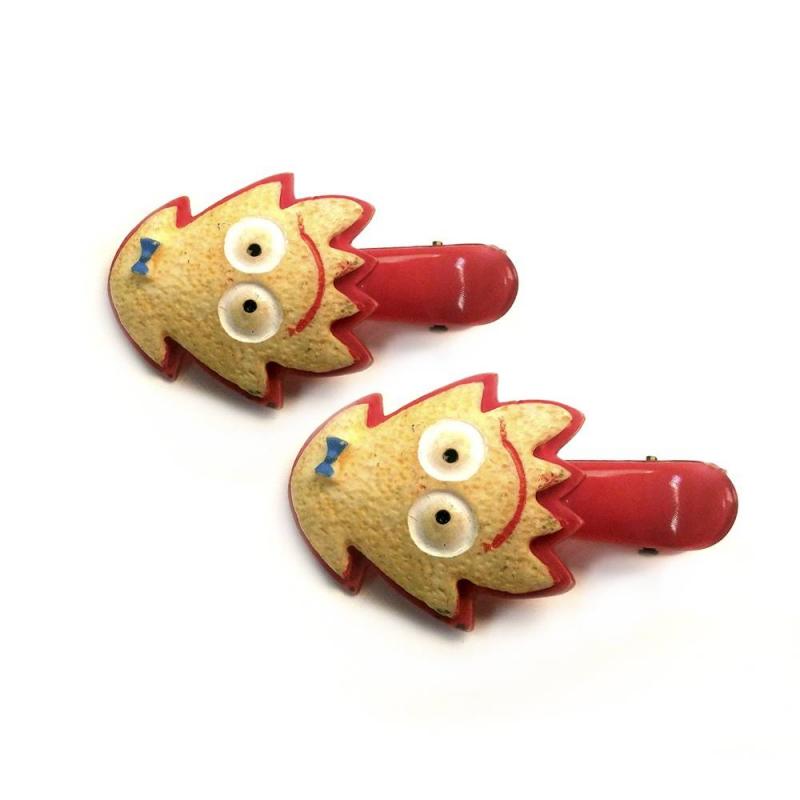 Набор заколокНабор заколок красногоцвета маркиInfinity Art.<br>Заколки-пеликаны выгодно дополнят повседневную прическу благодаря декору в виде забавных печенек.<br>Размер: 4см.<br><br>Цвет: Красный<br>Пол: Для девочки<br>Артикул: 639900<br>Страна производитель: Китай<br>Бренд: Китай<br>Размер: Без размера