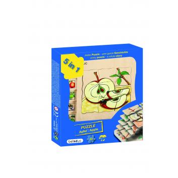 Игрушки, Развивающий пазл Яблоко 30 деталей Beleduc 640309, фото