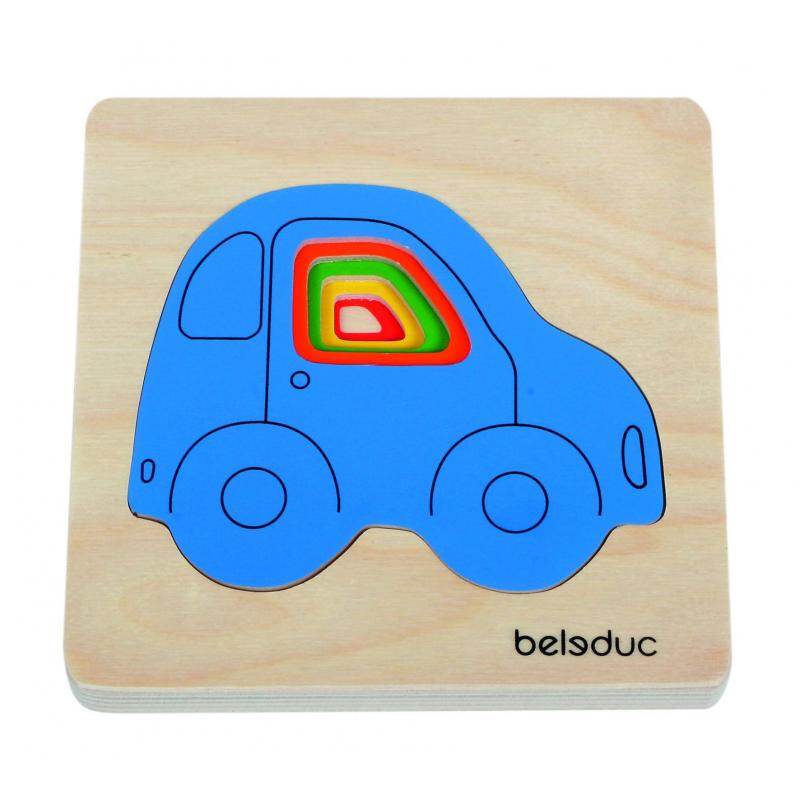 Beleduc Развивающий пазл Машинки 4 детали