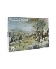 Пазлы зимний пейзаж с фигуристами 1000 деталей