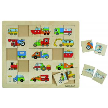 Игрушки, Развивающий пазл Транспорт 30 деталей Beleduc 640299, фото