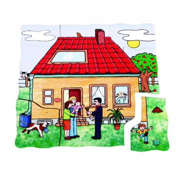 Игрушки, Развивающий пазл Строим дом 45 детали Beleduc 640308, фото
