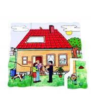 Развивающий пазл Строим дом