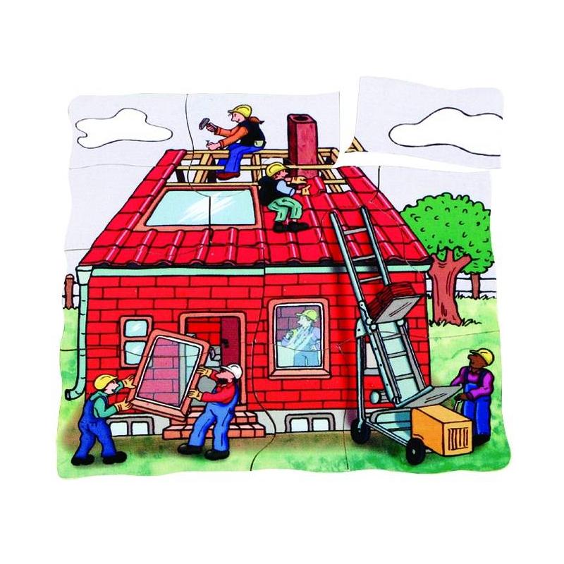 Развивающий пазл Строим дом 45 детали от Nils