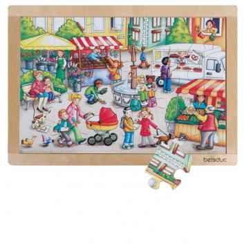 Игрушки, Развивающий пазл Рынок 24 детали Beleduc 640306, фото