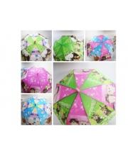 Зонтик со свистком 50 см 4 вида