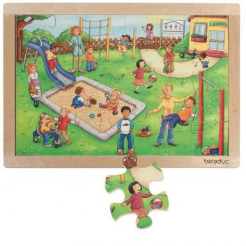 Игрушки, Развивающий пазл Детский сад 24 детали Beleduc 640305, фото