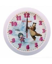 Часы Настенные Маша и Медведь Зима