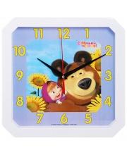 Часы Настенные Маша и Медведь Подсолнухи