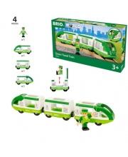 Набор зелёный поезд 3 вагона BRIO