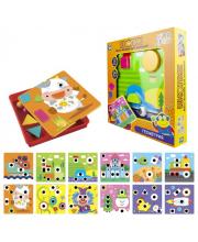 Игродром Мозаика для малышей Кнопик Геометрия 24 фигурки 1Toy