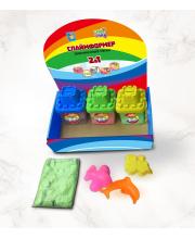 Слаймформер 200 гр баночке с 1 формочкой 6 цветов песка в ассортименте СЛАЙМ ТАЙМ