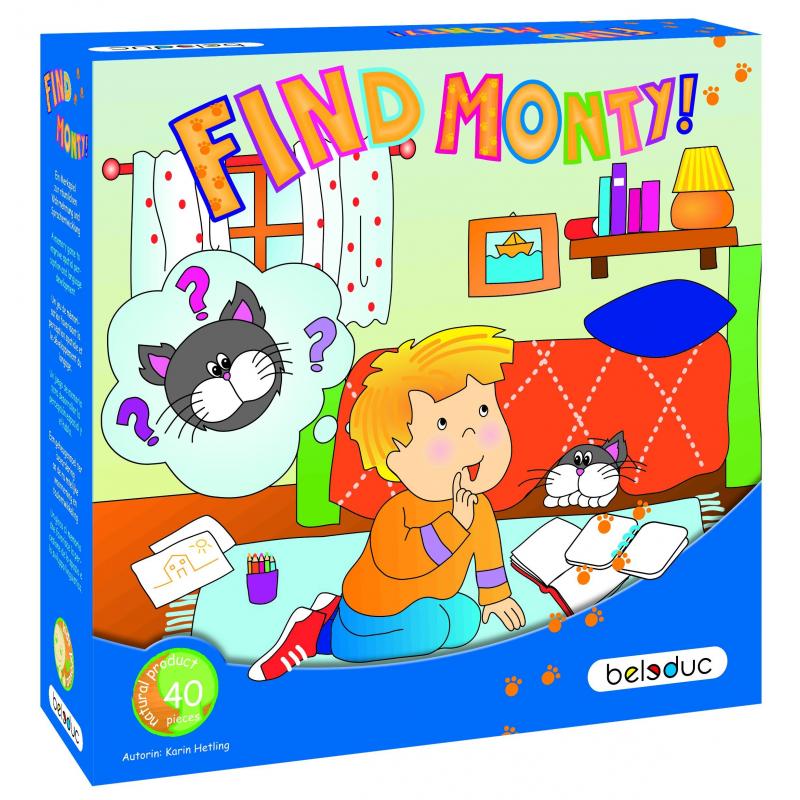 Beleduc Развивающая игра Найди кота Монти!