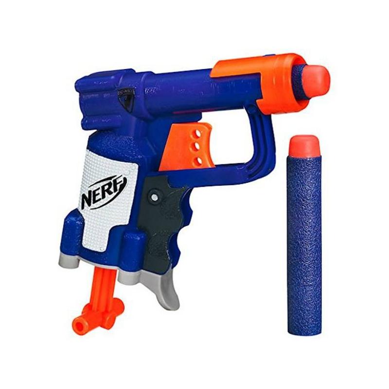 Бластер Nerf Элит ДжолтИгрушка Nerf Бластер Элит Джолт марки Hasbro.<br>Элит Джолт имеет компактные размеры, но это не умоляет его стрелковых характеристик. Стреляя из этого бластера, можно поразить мишень на расстоянии до 20 метров. Игры с бластером положительно влияют на координацию, ловкость и меткость ребенка. Каждый мальчик будет рад такой игрушке, которая позволит ему развить свои лучшие навыки.<br>Комплектация: бластер, 2 патрона.<br>Материал: пластик, вспененный полимер.<br>Перед игрой рекомендуется проинструктировать ребенка по вопросам безопасности. Не стоит направлять бластер в лицо. Используйте только те снаряды, которые идут в комплекте или из наборов Nerf с дополнительными стрелами.<br>Размер упаковки:15.2 х 3.2 x 16.5 см<br><br>Возраст от: 8 лет<br>Пол: Для мальчика<br>Артикул: 634045<br>Бренд: США<br>Размер: от 8 лет