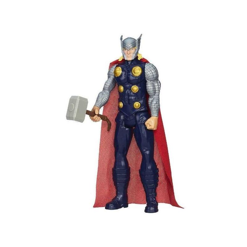 Игрушка Avengers Титаны. ТорИгрушка Avengers Титаны: Фигурка Мстителя Тор, 30 см марки Hasbro.<br>Для поклонников комиксов и фильмов о вселенной Marvel американская компания Hasbro разработала коллекцию фигурок Мстителей. В данной серии представлен Капитан Америка, Железный Человек, Сокол и Тор. Высота каждой фигурки составляет 30 см.Тор обладает различными суперспособностями: в его арсенале есть специальный молот, с помощью которого он может наносить сокрушительные удары невероятной силы.Фигурка имеет подвижные руки и ноги, что позволяет принимать различные боевые позы. Игрушка сделана из прочного пластика, поэтому она вынесет все игрушечные испытания и бои, которые придумает ей ее обладатель.<br>Материал: пластик.<br>Высота: 30 см.<br><br>Возраст от: 4 года<br>Пол: Для мальчика<br>Артикул: 635162<br>Бренд: США<br>Лицензия: Avengers<br>Размер: от 4 лет