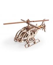 Конструктор 3D деревянный Вертолет Стриж Lemmo