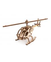 Конструктор 3D деревянный Вертолет Робинзон Lemmo